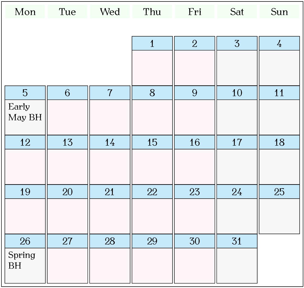 7 5 ⁂Displaying a Calendar