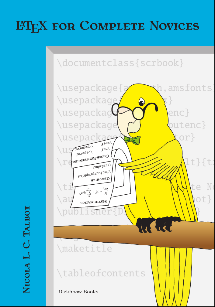 Latex for complete novices for Latex book cover template