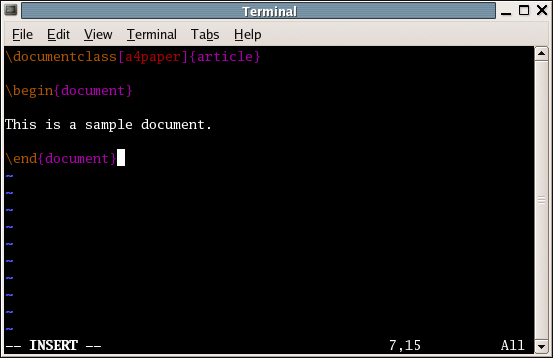 how to open a file in vim from terminal
